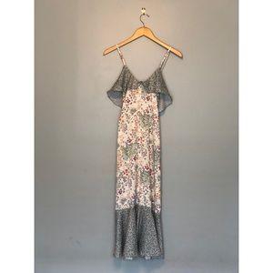 Nasty Gal Floral Ruffle Midi dress